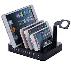 USB-laturi 6 Portit Työpöydän latausasema Telakka Switch (es) Latausadapteri