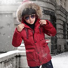 billige Jakker og frakker til drenge-Børn Drenge Gade I-byen-tøj Patchwork Patchwork Langærmet Lang dun- og bomuldsforet