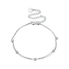 Dame Ankel/Armbånd Sølvbelagt Enkelt design Cirkelformet Smykker Til Fest Afslappet