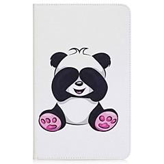 panda mønster kortholder lommebok med stativ flip magnetisk pu lærveske til Samsung Galaxy Tab en 10,1 t580n t585n 10,1 tommers PC-PC