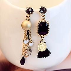 Damskie Kolczyki wiszące Mieszane kolczyki sztuczna Diament Modny Niedopasowanie Stop Geometric Shape Biżuteria Na Codzienny Party Wieczór