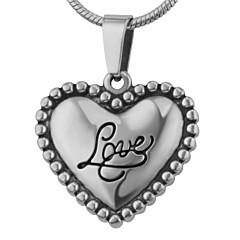 Pingentes Jóias Formato de Coração Amor Aço Inoxidável Moda Adorável Jóias Para Casamento Festa Halloween Diário Casual Esportes
