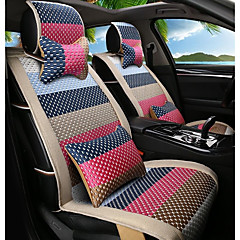 tegneserie regnbue lær silke materiale bil sete pute sete dekk sete fire sesonger generell rundt-3 #