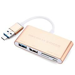 5 Porty USB Hub USB 2.0 USB 3.0 Micro USB 2.0 Se čtečkou karet (y) Ultra Slim OTG Data Hub