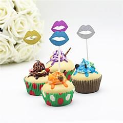 billige Kakedekorasjoner-Kakepynt Papir Bryllup Bursdag Vegas Tema Ferie Baby Fest Romantik Bryllup Familie Fødselsdag rustikk Theme PVC Veske