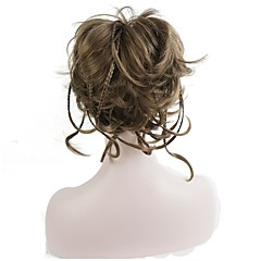 cheap Wigs & Hair Pieces-Ponytails / Hair Piece Synthetic Hair Hair Piece Hair Extension Straight / Classic Daily