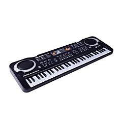 halpa -Musiikkilelut Toy Instruments Elektroninen näppäimistö Piano Opetuslelut Lelut Piano Soittimet Neliskulmainen Ladattava Simulointi Hauska