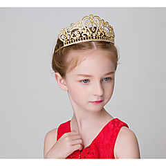 baratos Acessórios para Crianças-Crianças Para Meninas Acessórios de Cabelo Todas as Estações Liga Dourado Prata