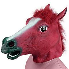 billige Originale moroleker-Haloween-masker Spøkeleke Halloween Utstyr Maskerademasker Dyremaske Nyhet Hest Hestehode Horrortema Gummi Deler Unisex Voksne Gave
