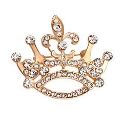 billige Motebrosjer-Dame Nåler Krystall Rhinstein Elegant Mote Gullbelagt Legering Krone Formet Gull Smykker Til Daglig Aftenselskap