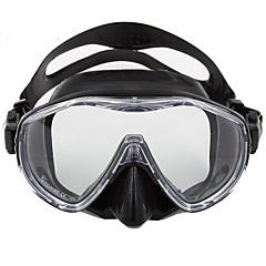 Maske zum Schnorcheln Tauchmasken Tragbar Wasserfest Einfach zu tragen Tauchen und Schnorcheln Glasfaser Silikon für Unisex