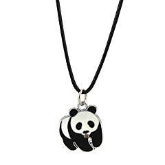 Men's Women's Pendant Necklaces Jewelry Circle Panda Alloy Adorable Classic Jewelry For Engagement Casual
