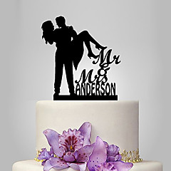 cheap Cake Toppers-Cake Topper Classic Theme Romance Wedding Classic Couple Plastic Wedding with 1 Poly Bag