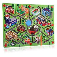 매직 큐브 미로&순차 이동 퍼즐 루반 락 친목 게임 자기 미로 스트레스 해소 제품 교육용 장난감 장난감 라운드 직사각형 남여 공용 1 조각