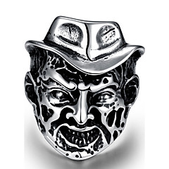 Miesten Kokosormen sormus Korut Punk-tyyli Personoitu Ruostumaton teräs Metalliseos Geometric Shape Skull shape Korut Käyttötarkoitus
