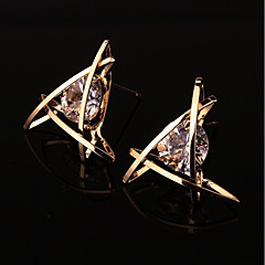 Women's Stud Earrings Geometric Alloy Triangle Shape Jewelry For Wedding Party