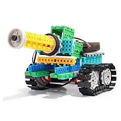 baratos -Robô Blocos de Construir Tanque Brinquedos Tanque Militar Simples Controlo Remoto Educação Elétrico Faça Você Mesmo Plástico Suave
