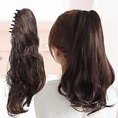 billiga Peruker och hårförlängning-Klämma in Hästsvans Wrap AroundHigh Quality Vira runt Hög kvalitet Syntetiskt hår Hårstycke HÅRFÖRLÄNGNING Spännen Klassisk Dagligen