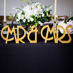 Wood Table Center Pieces-Personalized Character Piece/Set Wedding Reception
