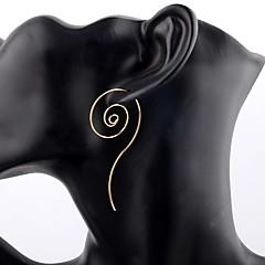 Női Beszúrós fülbevalók Francia kapcsos fülbevalók Méretes ékszerek Személyre szabott Ezüstözött Ötvözet Round Shape Ékszerek