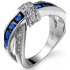 男性用 女性用 ナックリリング 婚約指輪 キュービックジルコニア ジルコン 銅 スクエア 幾何学形 ジュエリー 用途 結婚式 パーティー 誕生日 婚約