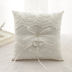 cheap Wedding Ceremony-Ribbon Flower(s) Bow Satin Silk Ring Pillows Wedding Ceremony