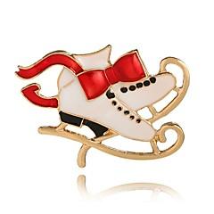 billige Motebrosjer-Dame Nåler Krystall Rhinstein søt stil Jul Krystall Legering Geometrisk Form Uregelmessig Gull Smykker Til Daglig Avslappet