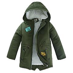 tanie Odzież dla chłopców-Dla chłopców Solidne kolory Kurtka / płaszcz Granatowy