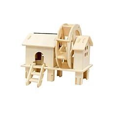 저렴한 태양열 에너지 장난감-RUOTAI 3D퍼즐 / 나무 모델 풍차 솔라 - 전원 활기 없는 1 pcs 아동용 선물