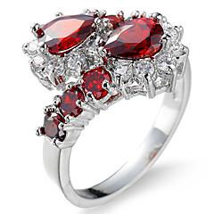 levne -Pánské Dámské Zásnubní prsten Boxer Kubický zirkon Zirkon Měď Kapka Šperky Pro Svatební Párty Narozeniny Zásnuby