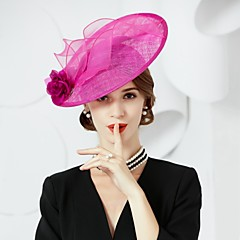 cheap Party Hats-Flax Silk Hats 1 Wedding Special Occasion Headpiece