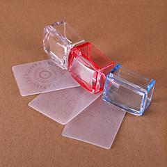 billige Neglestempling-3 Tilbehør Art Deco/Retro Stamper & Scraper DIY Utstyr Maling verktøy Tegneverktøy 3D Nail Stamping Template Daglig Mote Høy kvalitet