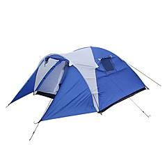 billige Telt og ly-3-4 personer Lytelt Telt med flere rom Skjermtelt Telt Dobbelt camping Tent Ett Rom med Vestibyle Familietelt UV-bestandig til Camping /