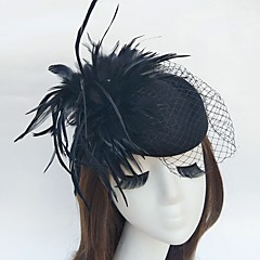 feather net fascinators bonés birdcage veils headpiece elegant style