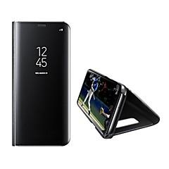 tok Για Samsung Galaxy S8 Plus S8 με βάση στήριξης Καθρέφτης Αυτόματο ύπνος/αφύπνιση Πλήρης κάλυψη Συμπαγές Χρώμα Σκληρή PU Δέρμα για S8