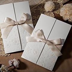 baratos -Embrulhado e de Bolso Convites de casamento-Cartões de convite Estilo Clássico Papel com Relevo