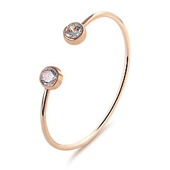 cheap -Women's Cuff Bracelet Crystal Fashion Simple Style Classic Alloy Round Drop Jewelry For Party Birthday Gift Daily Date