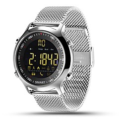 tanie Inteligentne zegarki-Inteligentny zegarek EX18 na iOS / Android Spalone kalorie / Długi czas czuwania / Wodoszczelny / Wodoodporny / Rejestr ćwiczeń / Śledzenie odległości Stoper / Krokomierz / Powiadamianie o połączeniu