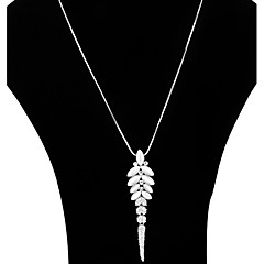 Mulheres Formato de Folha Colar de Fios colares em camadas Cristal Liga Colar de Fios colares em camadas , Festa Diário