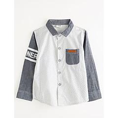 billige Overdele til drenge-Baby Drenge Prikker Langærmet Bomuld Skjorte