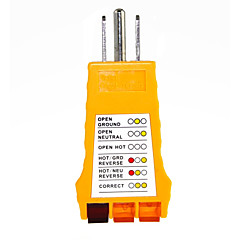 Testador de circuitos de tomada de parede de receptáculo de 3 pranchas de 110-125 volts com indicador luminoso para casas.