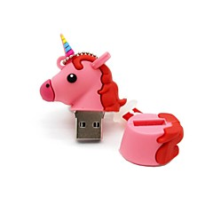 8gb usb 2.0 cartoon unicorn horse usb flash drive disco fofo memory stick pen drive presente pen drive