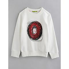 billige Overdele til drenge-Børn Drenge Geometrisk Langærmet Bomuld Bluse Hvid