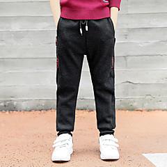 tanie Odzież dla chłopców-Dzieci Dla chłopców Nadruk Bawełna Spodnie Czarny 140