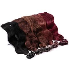 ieftine Extensii Păr Fusion-Fuziune / U Tipi Umane extensii de par Ondulat Păr Natural Pentru femei Zilnic