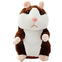 Vorbind de hamster Mouse Hamster Jucărie PLuș Γεμιστά και λούτρινα ζωάκια Drăguț Mers vorbind Vibrați nodurile Electric Repetă ceea ce