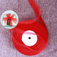 cheap Wedding Ribbons-N/A Ribbon Organza Wedding Ribbons - 1 Piece/Set Satin Ribbon Grosgrain Ribbon Organza Ribbon Weaving Ribbon Metallica Ribbon Other Home