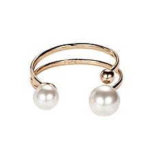 billige Fine smykker-Dame Imiteret Perle Manchetarmbånd - Mode Koreansk Cirkelformet Guld Armbånd Til Gave Stævnemøde