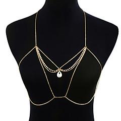 tanie Piercing-Damskie Biżuteria Łańcuch nadwozia / Belly Chain Stop Gold Geometric Shape Wyrazista biżuteria Modny Gotyckie Biżuteria kostiumowa Na
