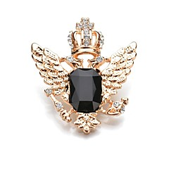 cheap Brooches-Women's Crown Crystal Crystal Brooches - Classic / Fashion Crown / Wings / Feather Black / Royal Blue Brooch For Daily